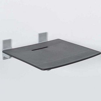 Nymas Contemporary Slimline Padded Shower seat - Black
