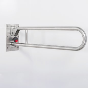 Nymas Stainless Steel Removable Hinged Grab Rail 800mm Length - Satin