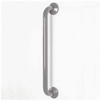 Nymas NymaCARE Nylon Flanged Grab Rail with Concealed Fixings 600mm Length - Grey