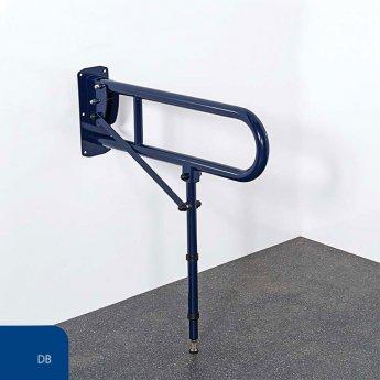 Nymas NymaPRO Lift and Lock Hinged Grab Rail with Leg 650mm Length - Dark Blue