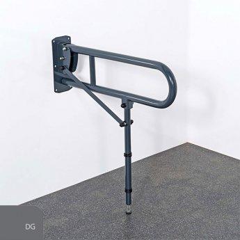 Nymas NymaPRO Lift and Lock Hinged Grab Rail with Leg 650mm Length - Dark Grey