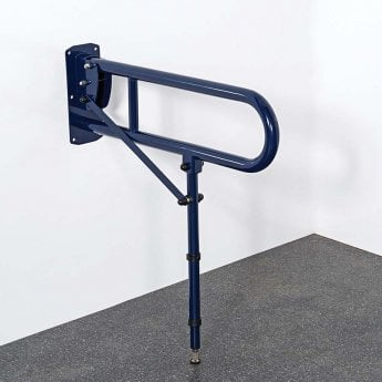 Nymas NymaPRO Lift and Lock Hinged Grab Rail with Leg 800mm Length - Dark Blue