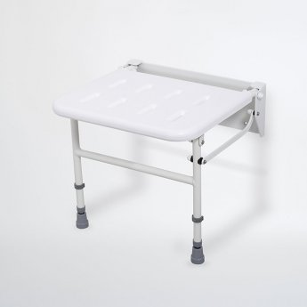 Nymas NymaPRO Wall Mounted Shower Seat with Legs - White