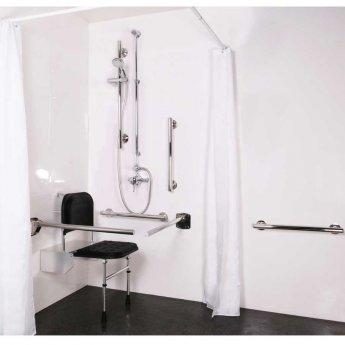 Nymas NymaSTYLE Doc M Shower Pack with Luxury Polished Grab Rails