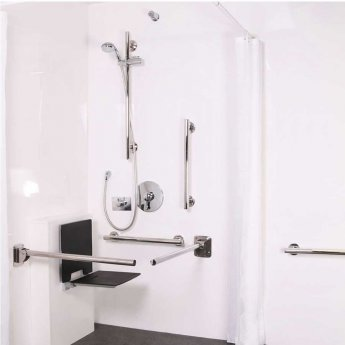 Nymas NymaSTYLE Doc M Shower Pack with Concealed Valves and Slimline Seat - Polished