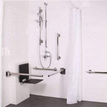 Nymas NymaSTYLE Doc M Shower Pack with Exposed Valves and Slimline Seat - Polished