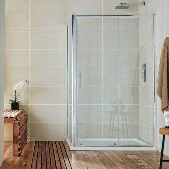 Orbit A6 Sliding Shower Door 1000mm Wide - 6mm Glass