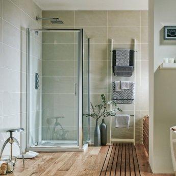 Orbit A6 Pivot Shower Door 800mm Wide - 6mm Glass