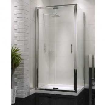 Orbit A6 Semi-Frameless Bi-Fold Shower Door 700mm Wide - 6mm Glass