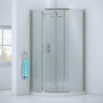 Orbit A6 Single Door Offset Quadrant Shower Enclosure 900mm x 760mm - 6mm Glass