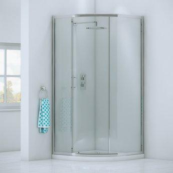 Orbit A6 Single Door Offset Quadrant Shower Enclosure 1000mm x 800mm - 6mm Glass