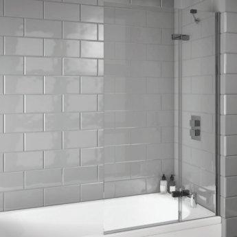 Orbit A8 Extended Bath Screen 1500mm High x 900mm Wide - 8mm Glass