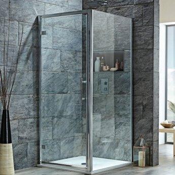 Orbit A8 Hinged Shower Door 800mm Wide - 8mm Glass