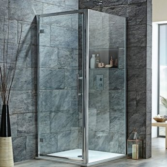 Orbit A8 Hinged Shower Door 1000mm Wide - 8mm Glass