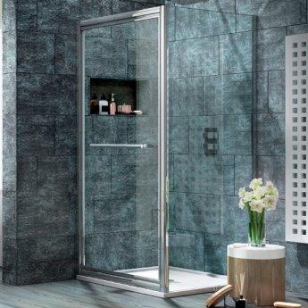 Orbit A8 Infold Shower Door 760mm Wide - 8mm Glass