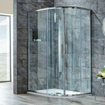 Orbit A8 Double Door Offset Quadrant Shower Enclosure 1200mm x 800mm - 8mm Glass