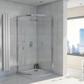 Orbit A8 Single Door Quadrant Shower Enclosure 900mm x 900mm Wide - 8mm Glass