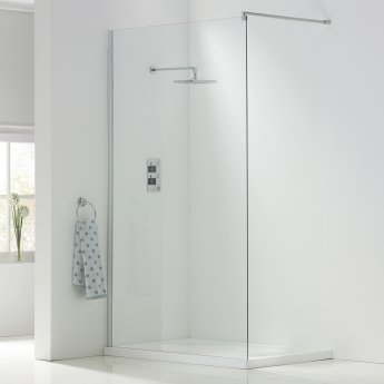 Orbit A8 Wet Room Glass Panel 900mm Wide - 8mm Clear Glass