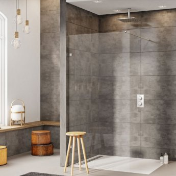 Orbit A8 Wet Room Glass Panel 800mm Wide - 8mm Clear Glass