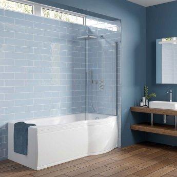 Orbit P Shaped Bath Pbath002 1675mm X 850 750mm Acrylic