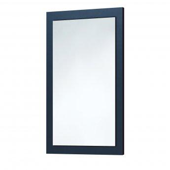 Orbit Wood Frame Bathroom Mirror 800mm H x 500mm W - Indigo Blue