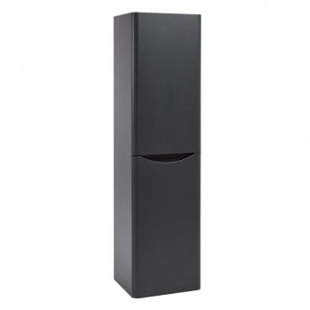 Orbit Contour Wall Hung Tall Storage Unit 400mm Wide - Graphite Grey