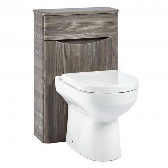 Orbit Contour Back to Wall WC Toilet Unit 500mm Wide - Avola Grey