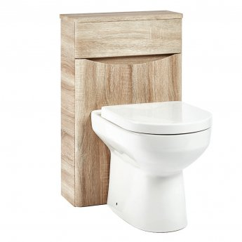 Orbit Contour Back to Wall WC Toilet Unit 500mm Wide - Driftwood