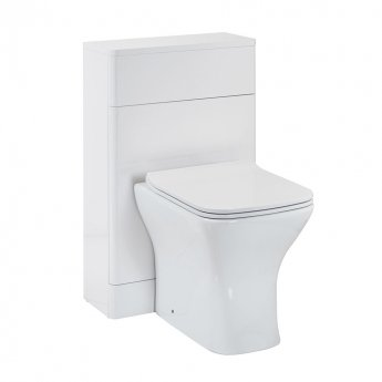 Orbit Eve Back to Wall WC Toilet Unit 500mm Wide - White Gloss