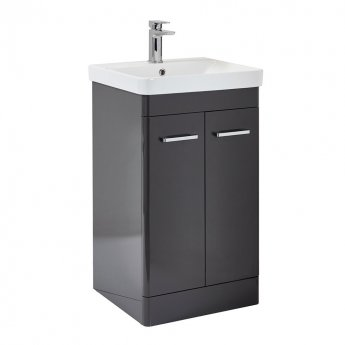 Orbit Eve Floor Standing 2-Door Vanity Unit with Basin 600mm Wide - Wolf Grey