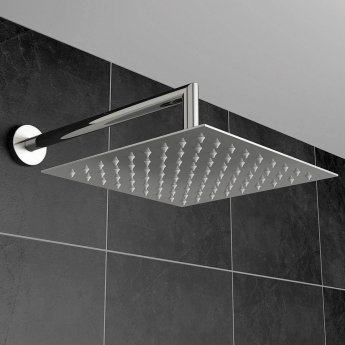 Orbit Square Fixed Shower Head 400mm x 400mm - Stainless Steel