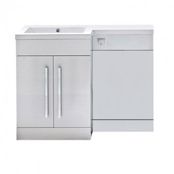 Orbit Life LH Combination Unit with Sculptured Basin 1100mm Wide - Gloss White