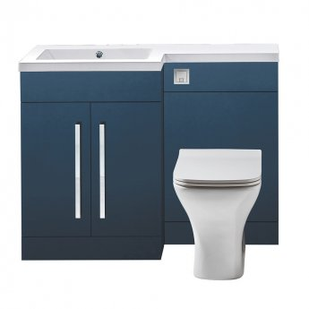 Orbit Life LH Combination Unit with Sculptured Basin 1100mm Wide - Matt Indigo