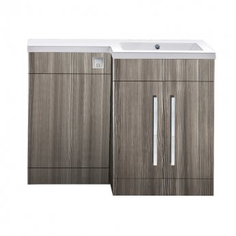 Orbit Life RH Combination Unit with Sculptured Basin 1100mm Wide - Gloss Avola Grey