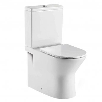 Orbit Life Fully Back to Wall Close Coupled Rimless Toilet Push Button Cistern - Soft Close Seat