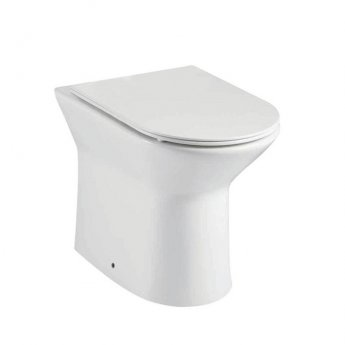 Orbit Life Rimless Back to Wall Toilet 360mm Wide - Soft Close Seat