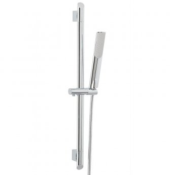 Orbit Marco Shower Slide Rail Kit with Pencil Handset and Pivoting Wall Brackets - Chrome