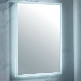Orbit Mosca LED Bathroom Mirror with Demister Pad and Shaver Socket 800mm H 600mm W