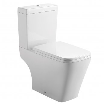 Orbit Nexus Open Back Close Coupled Toilet with Push Button Cistern - Soft Close Seat