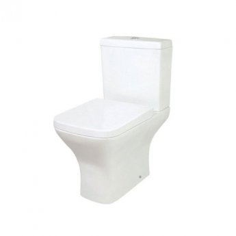 Orbit Nix Close Coupled WC Toilet with Push Button Cistern - Wrap Over Seat