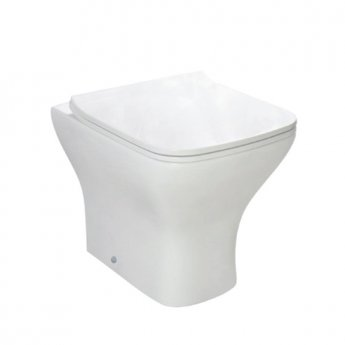 Orbit Nix Back to Wall Toilet 490mm Projection -  Wrap Over Seat