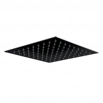 Orbit Noire Square Fixed Shower Head 300mm x 300mm - Stainless Steel/Matt Black