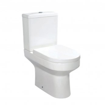 Orbit Omni Close Coupled Toilet with Push Button Cistern - Wrapover Soft Close Seat