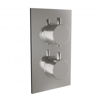Orbit Recessed Thermostatic Round Concealed Shower Valve Dual Handle - Chrome