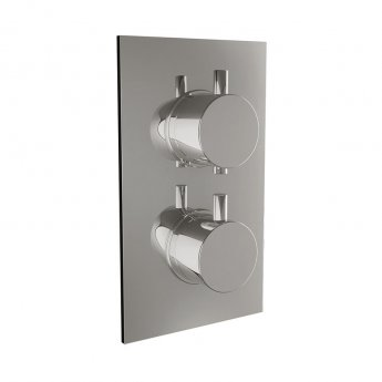 Orbit Recessed Round Concealed Shower Valve with Diverter Dual Handle - Chrome