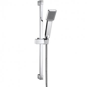 Orbit Square Shower Slide Rail Kit with Paddle Handset - Chrome