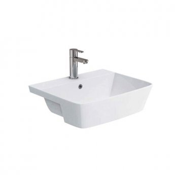 Orbit Solar Semi Recessed Basin 550mm Wide - 1 Tap Hole