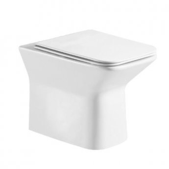 Orbit Solar Rimless Back to Wall Toilet 360mm Wide - Soft Close Seat