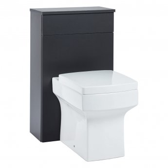 Orbit Supreme Back to Wall WC Toilet Unit 500mm Wide - Graphite Grey