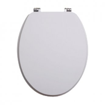 Orbit Vinyl Wrap MDF Soft Close Toilet Seat with Top Fix - High Gloss White